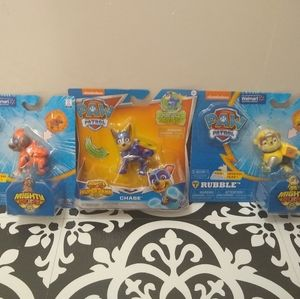 Lot of 3 Nickelodeon PAW PATROL Mighty Pups Super